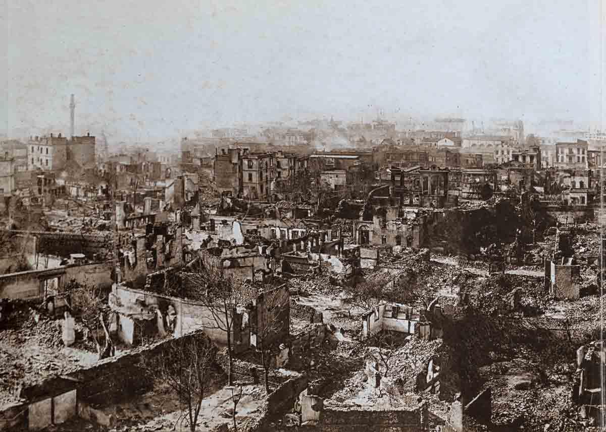 квартал Рогос после пожара в Салониках