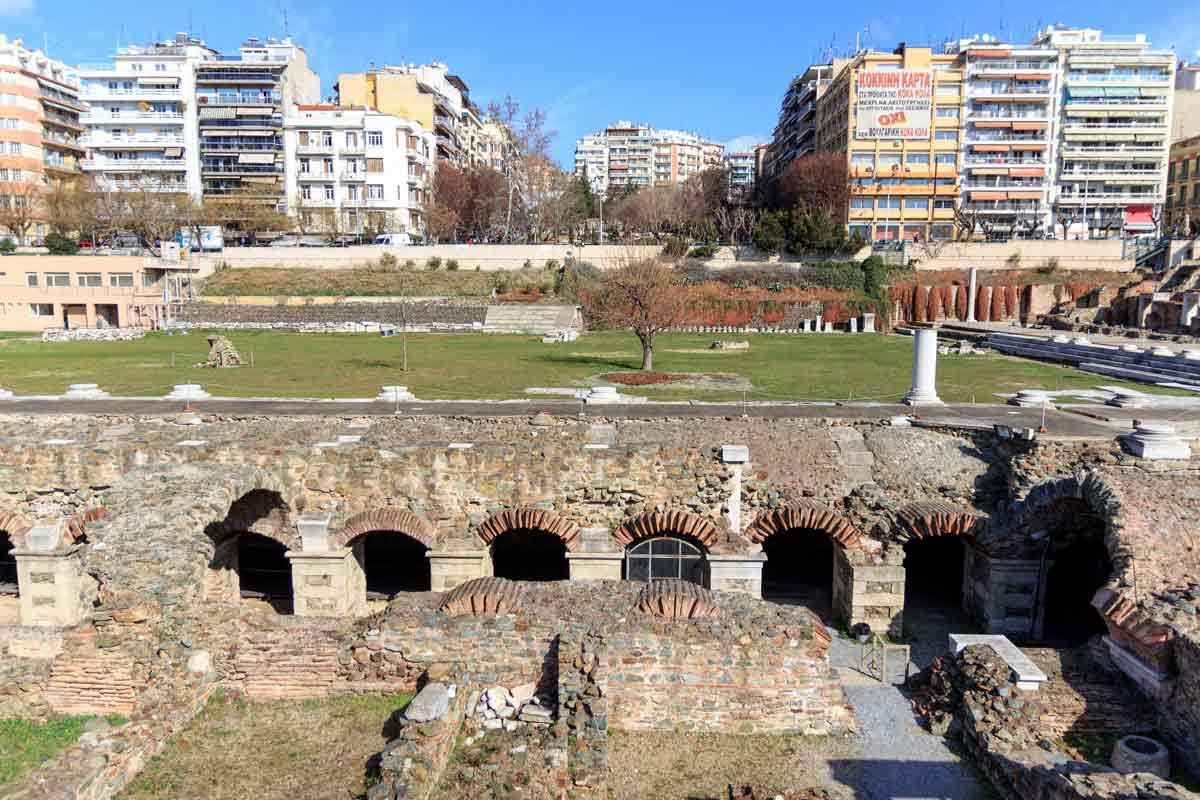 Римская агора в Салониках, Греция