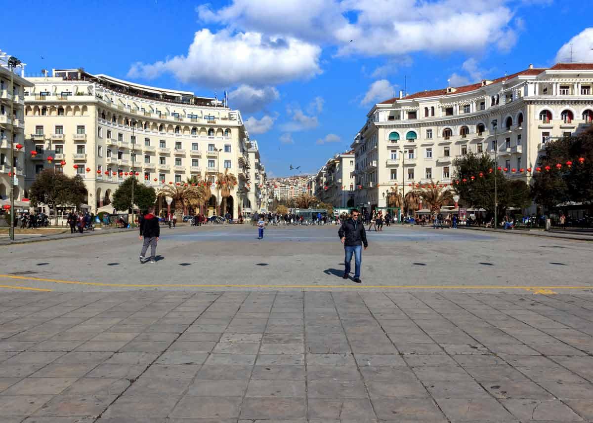 площадь Аристотеля в городе Салоники, Греция
