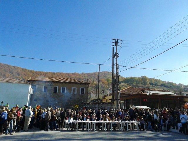 праздник каштана в деревне Ливади