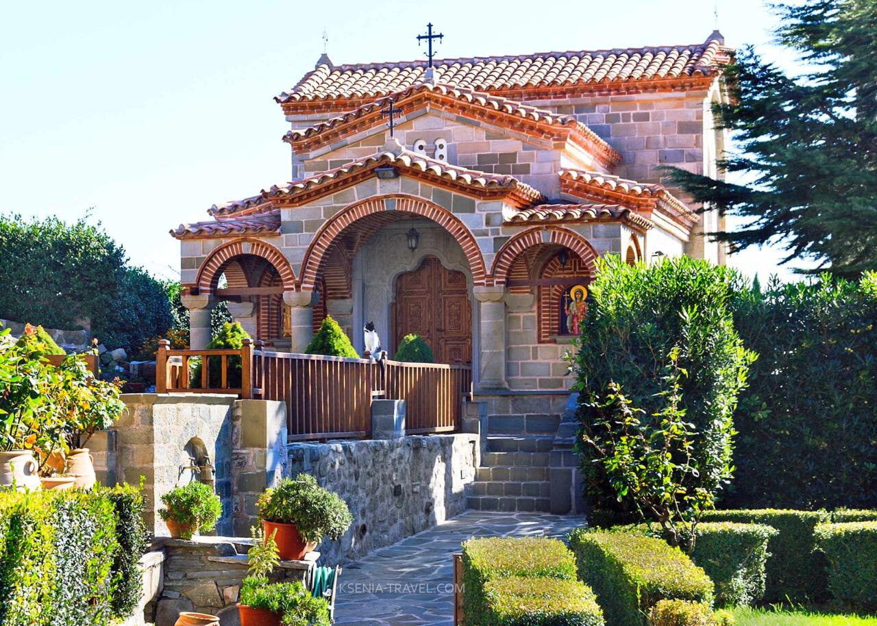 Храм первомученика Стефана, монастыри метеоры в Греции