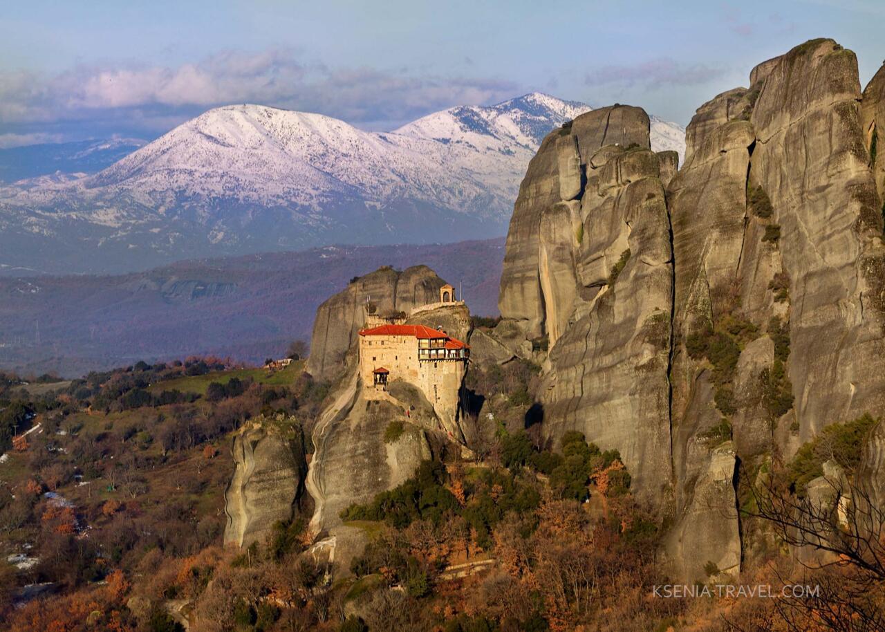 экскурсия в монастыри Метеоры, монастырь Николая Анапавсаса