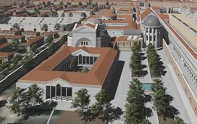 реконструкция дворца императора Галерия
