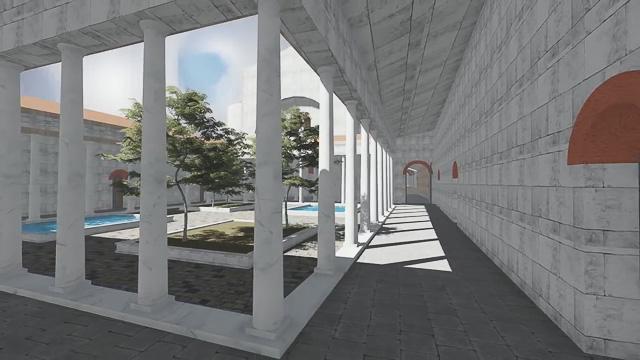 Октагон дворца императора Галерия, реконструкция, Салоники