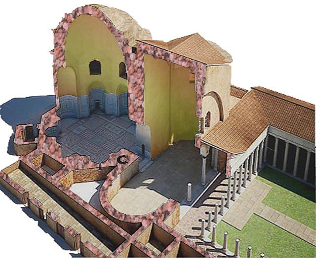Октагон дворца императора Галерия, Салоники, реконструкция