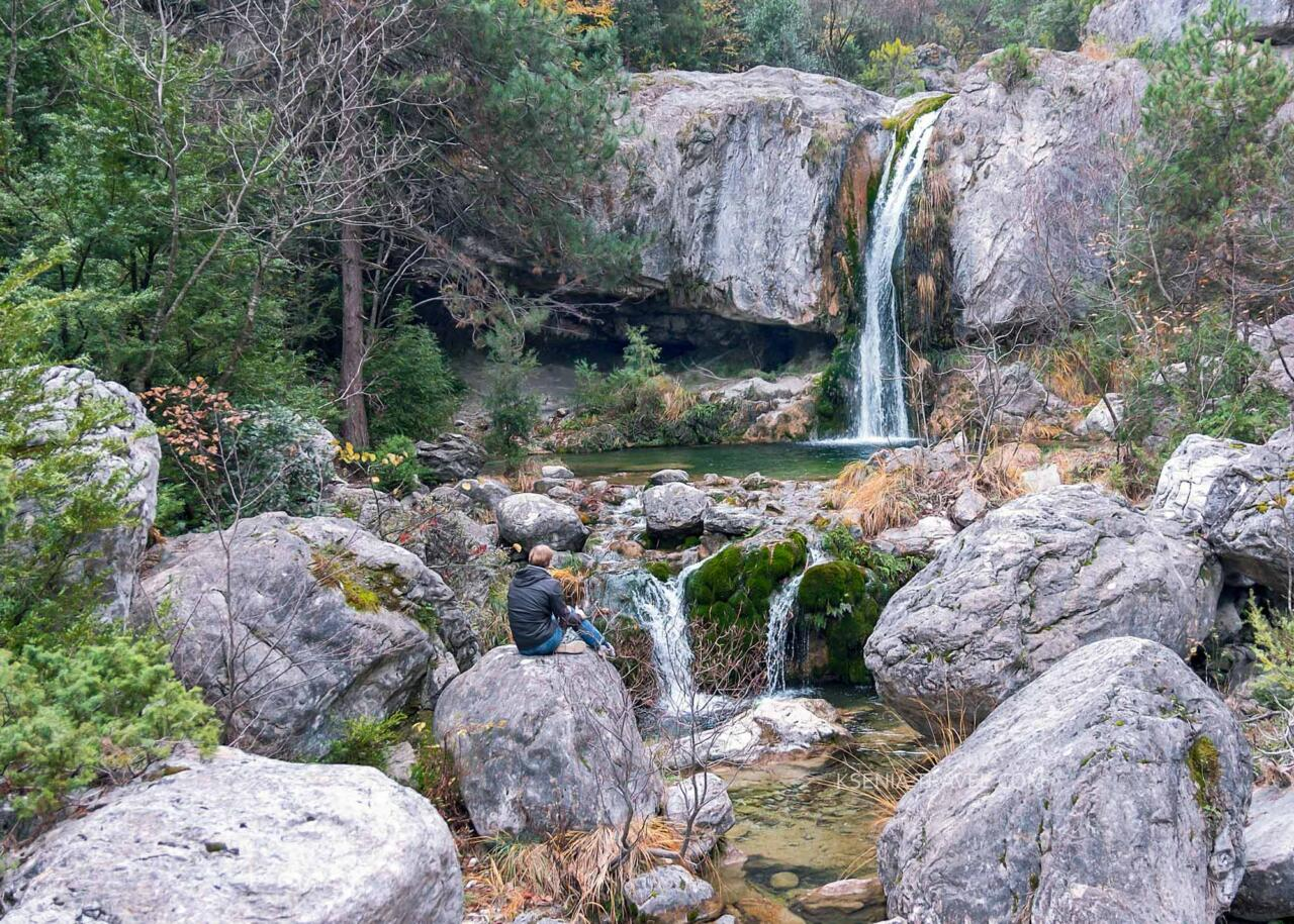 водопады на Олимпе, где живут олимпийские боги