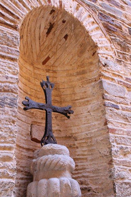 крест в монастыре Ставроникита, святая гора Афон, Греция