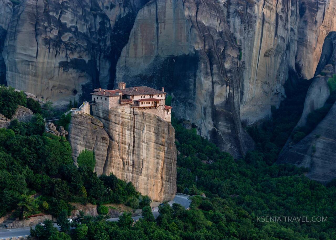 Экскурсия в Метеоры, Греция, монастырь Русану (святой Варвары)