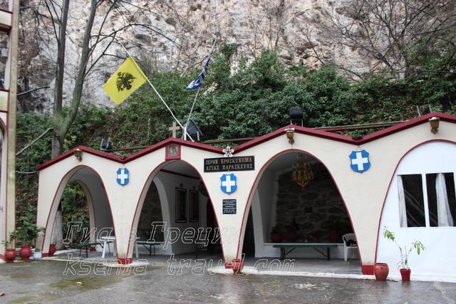 церковь святой Параскевы в ущелье Темби, Греция