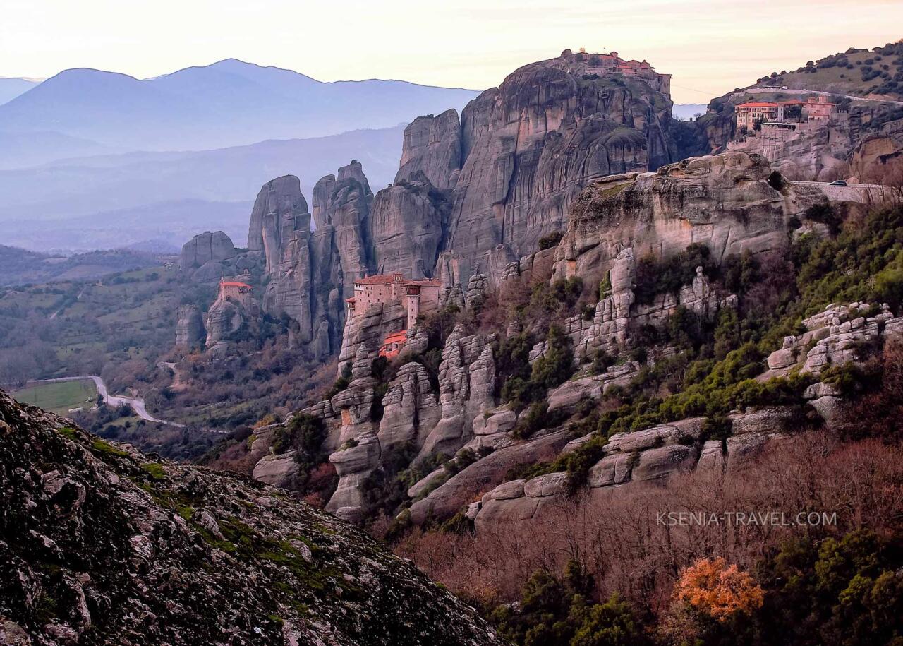 Экскурсия в монастыри Метеоры, Греция