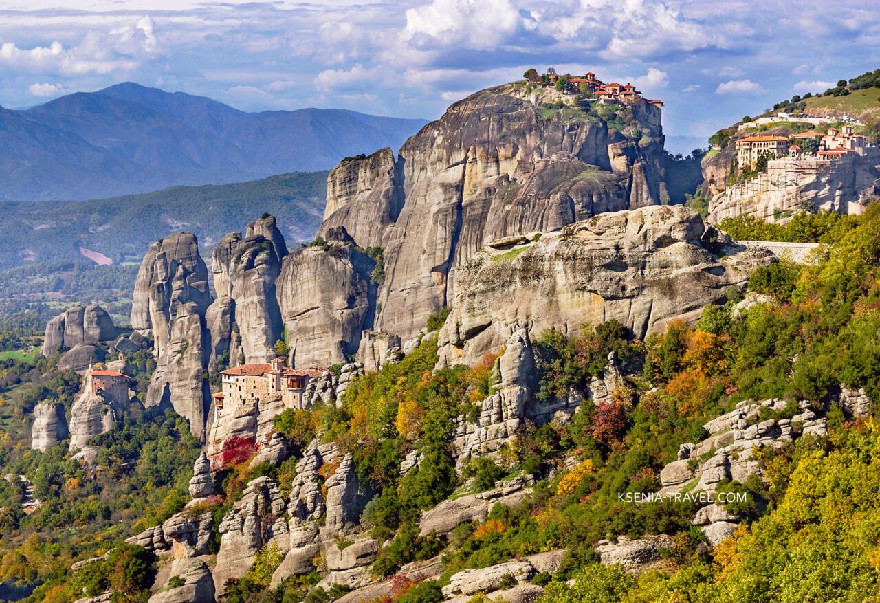 Экскурсия в монастыри Метеоры из Салоников и Халкидики