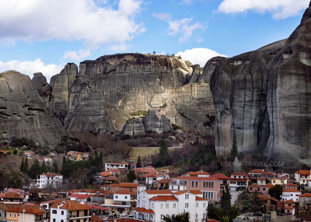 Монастыри Метеоры Греция, посёлок Кастраки