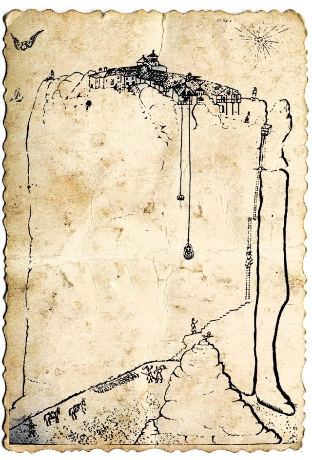 рисунок монастыря св. Троицы
