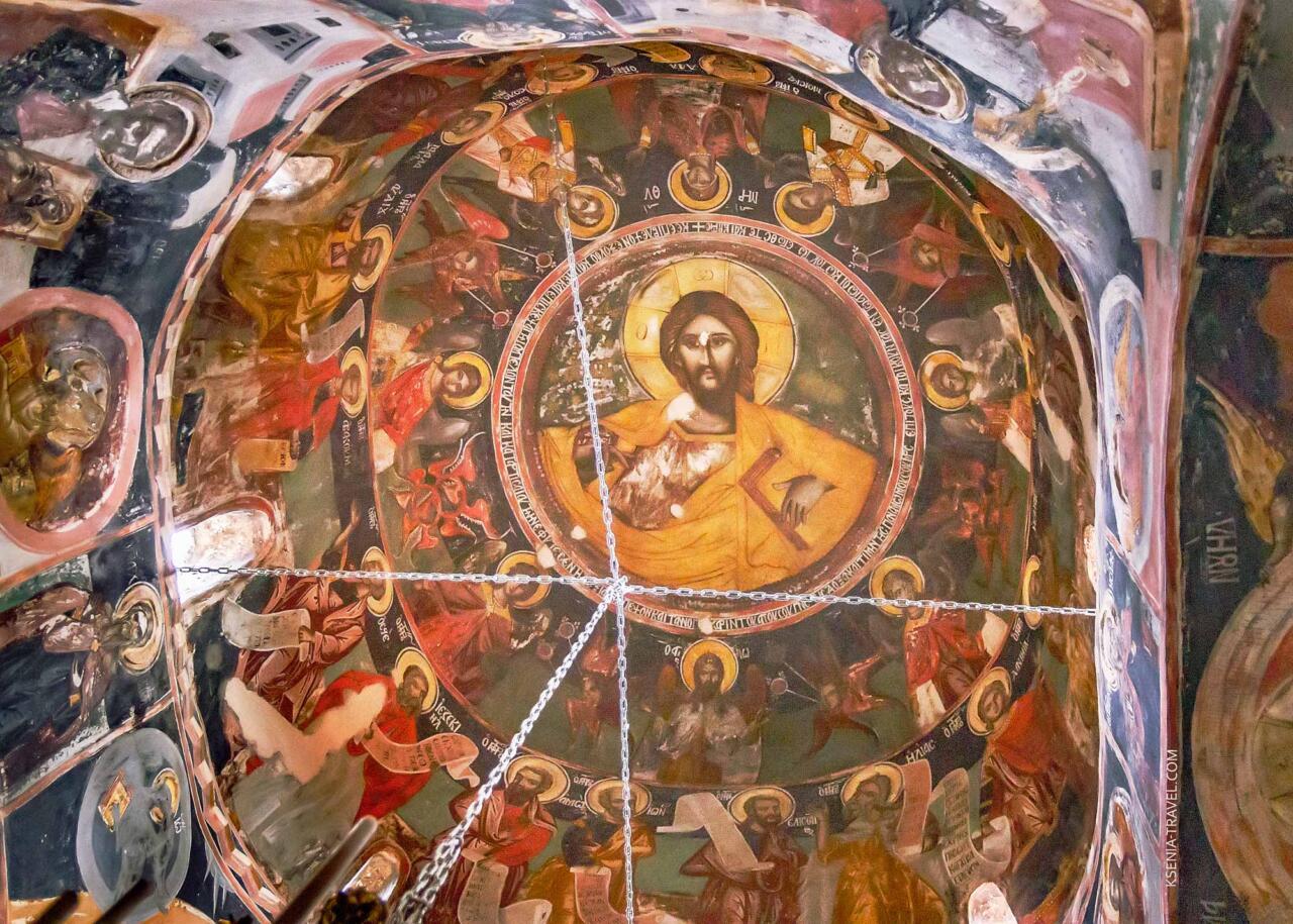 Фрески купола монастыря святой Троицы в Метеорах