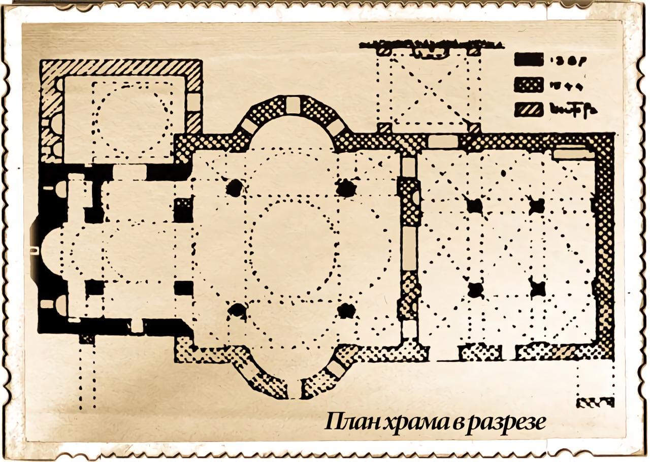 план храма Преображения Спасителя в монастыре Большие Метеоры