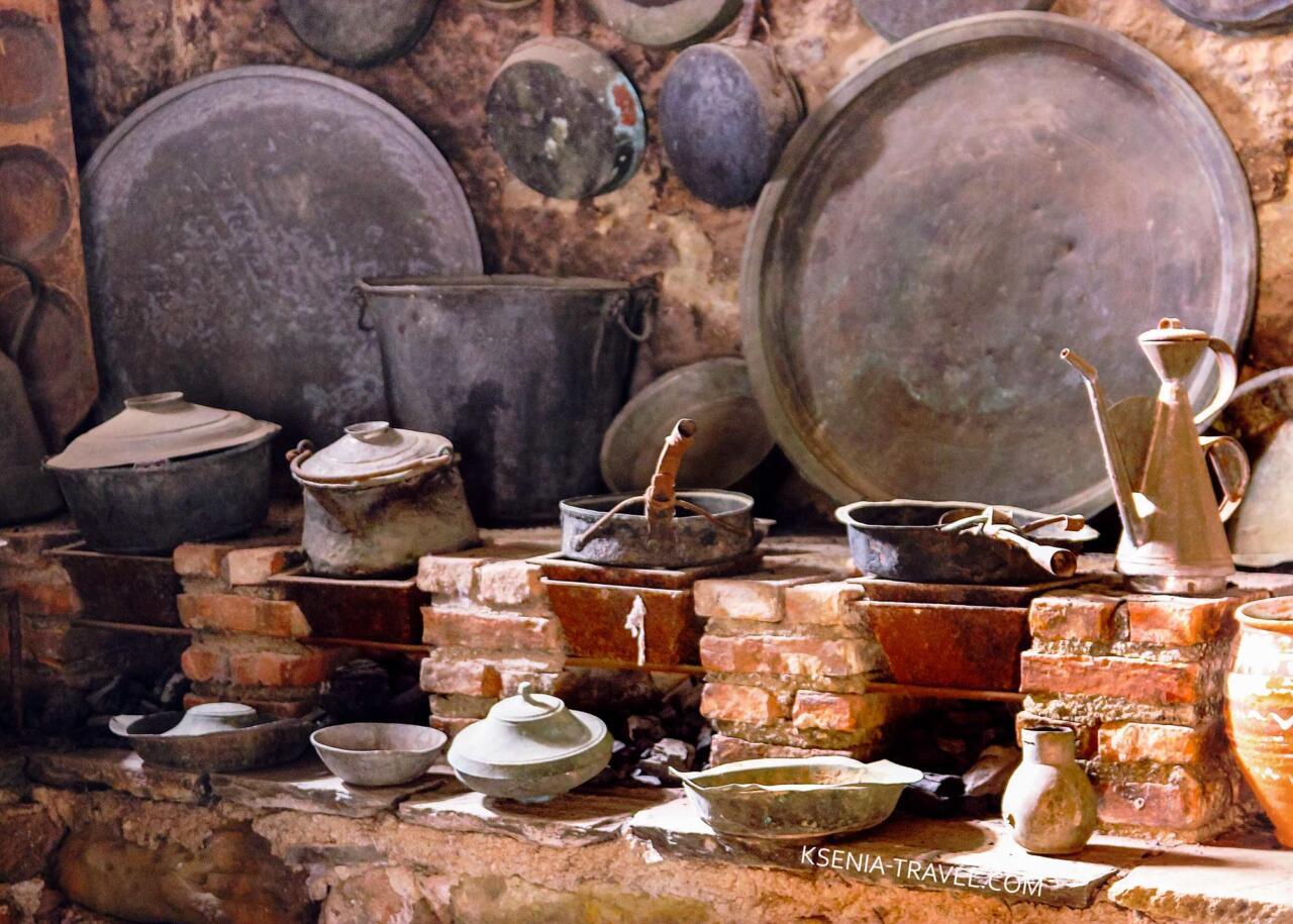 кухня мееторского монастыря, Греция