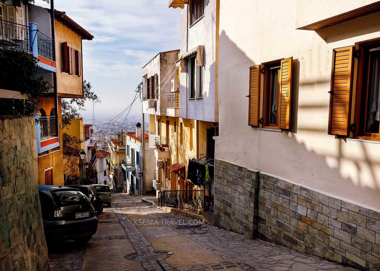 Крутые склоны в Салониках