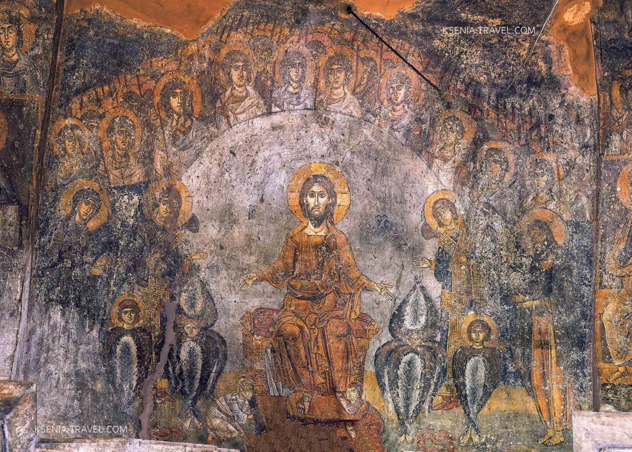Фреска храма Панагии Халкеон, Второе пришествие Христа