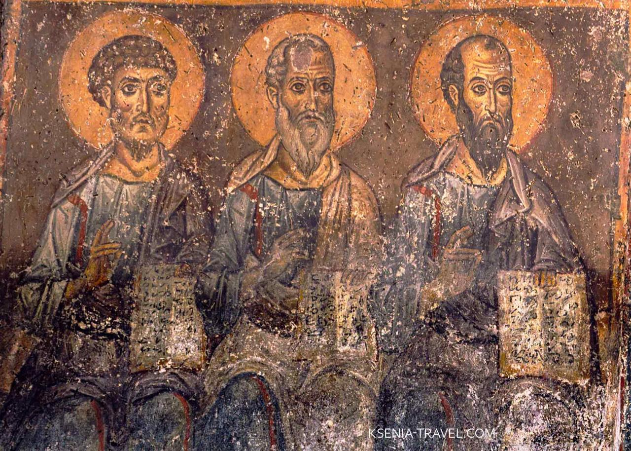 Фреска 12 века в церкви Халкеон