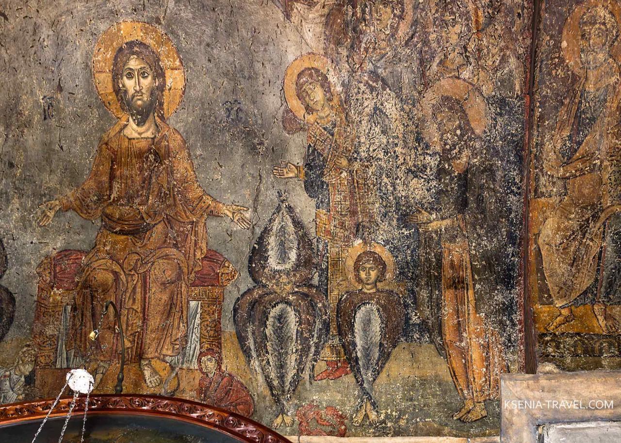 Роспись церкви Панагия Халкеон 12 века в Салониках