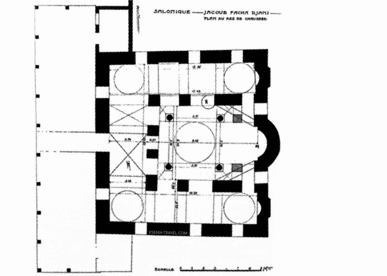 План - схема церкви Святой Екатерины