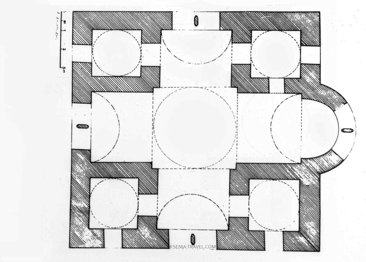 Первоначальный план монастыря