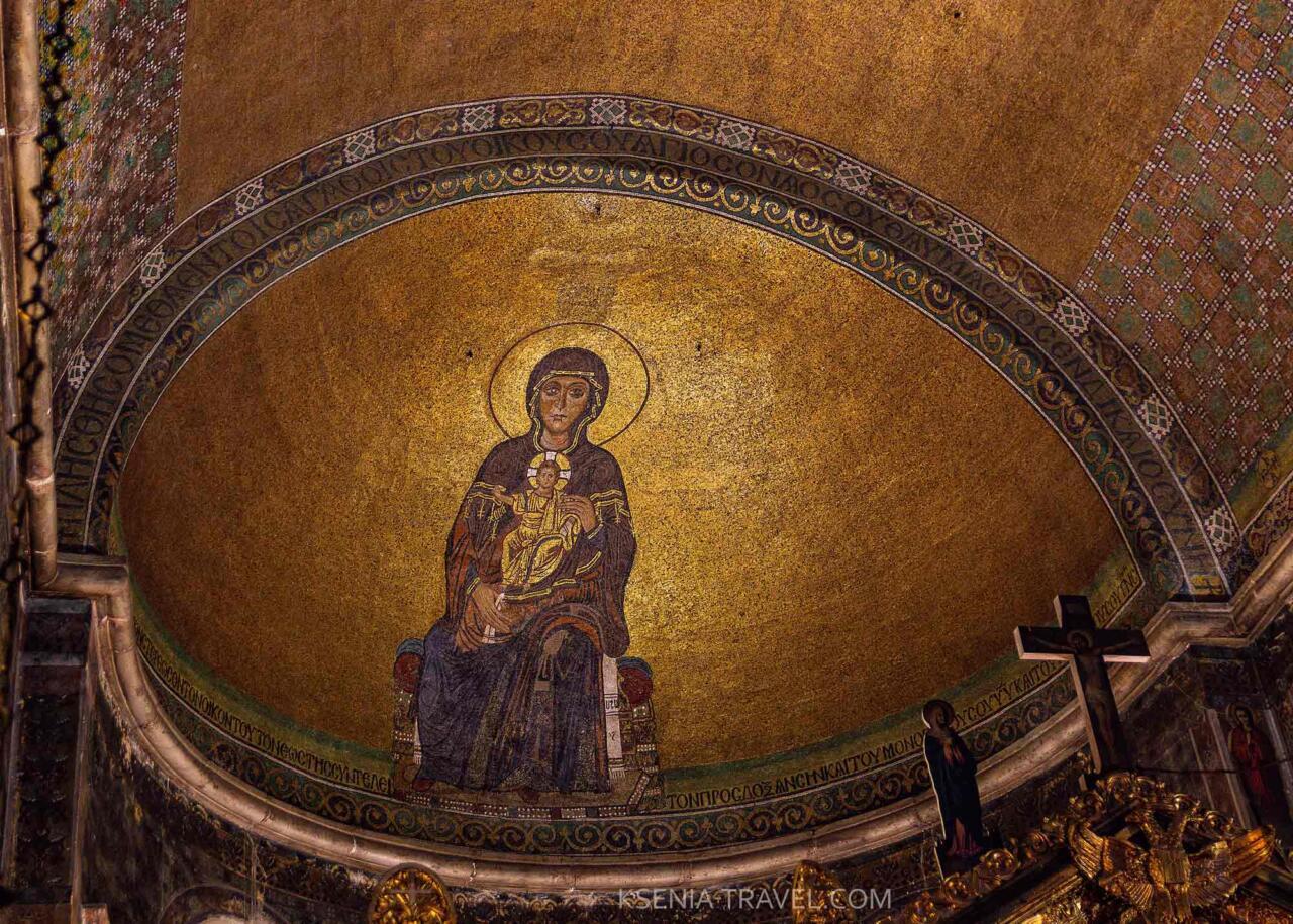 Мозаика апсиды храма Айя-София, святыни Салоники