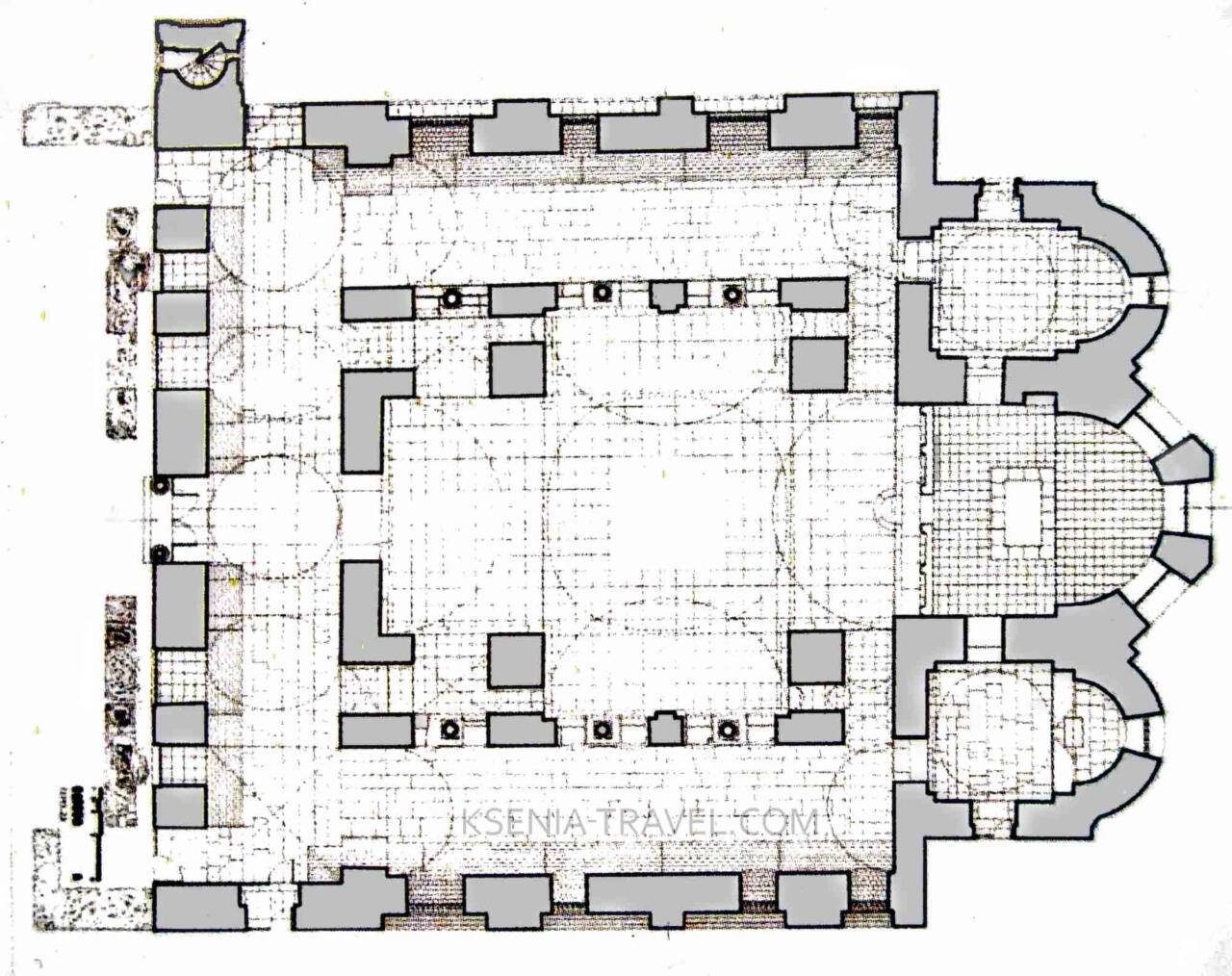 План храма Святой Софии в Салониках