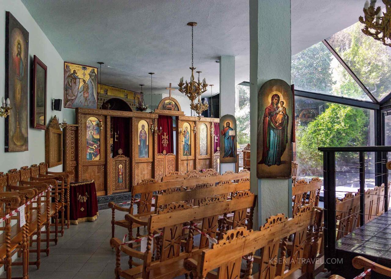 Внутреннее убранство баптистерия Святого Иоанна Крестителя, святыни Салоники