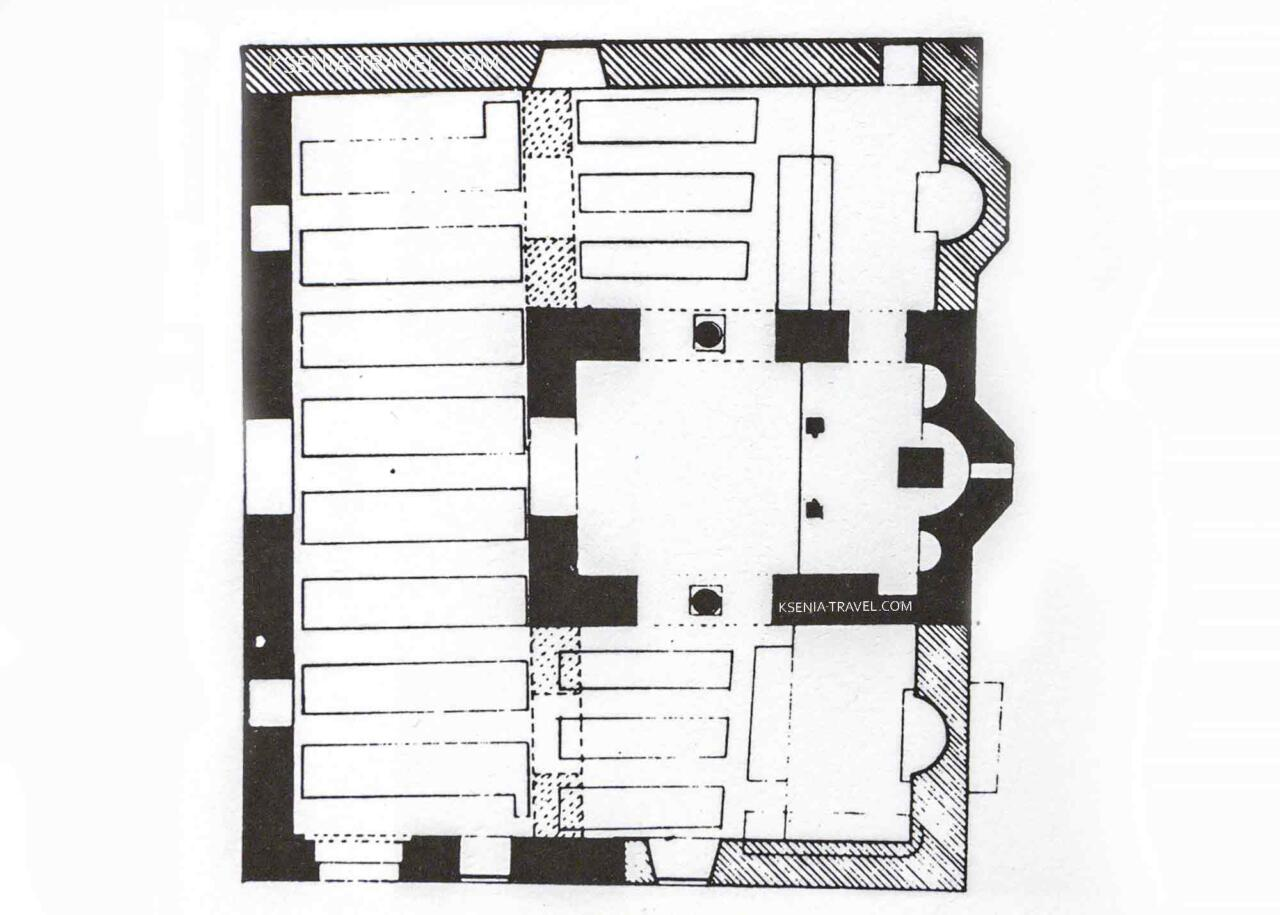 План-схема церкви Николая Орфаноса