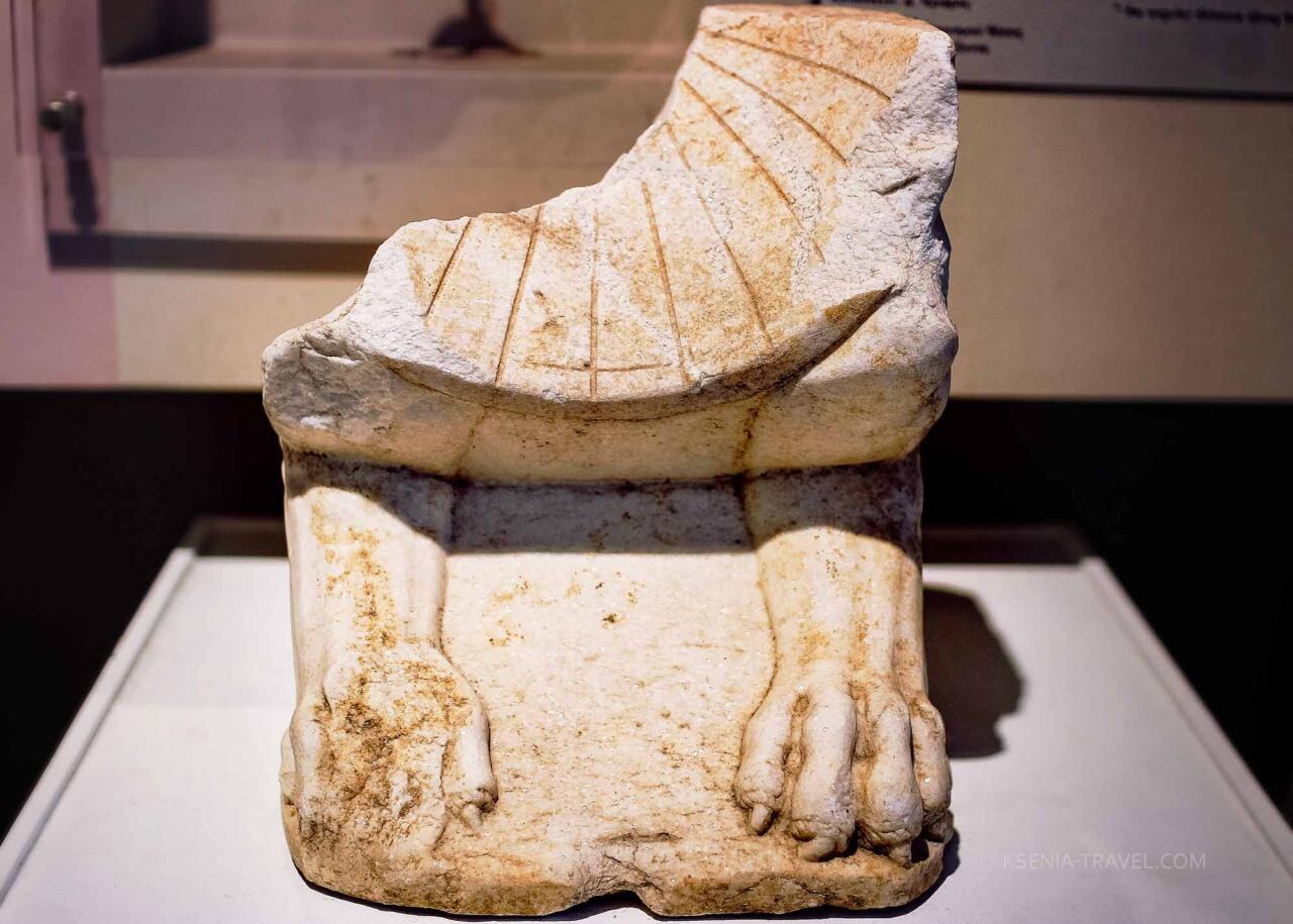 Экспонат в археологическом музее Салоников