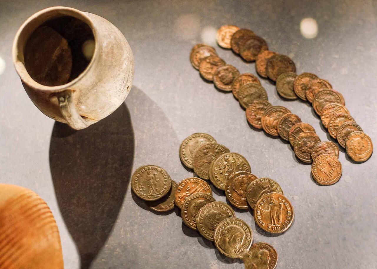 Коллекция монет в музее Салоников