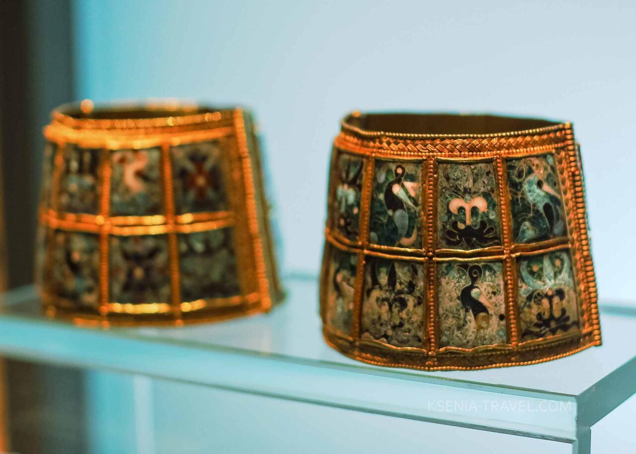 Экспонаты музея Византии в Салониках