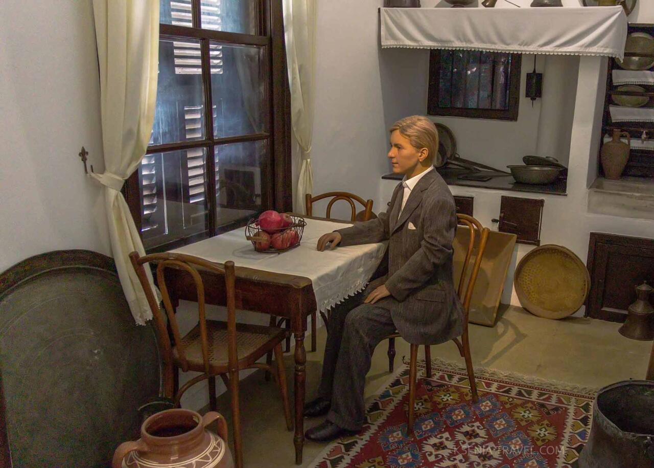 Восковая фигура Мустафы Кемаля Ататюрка в музее Салоников