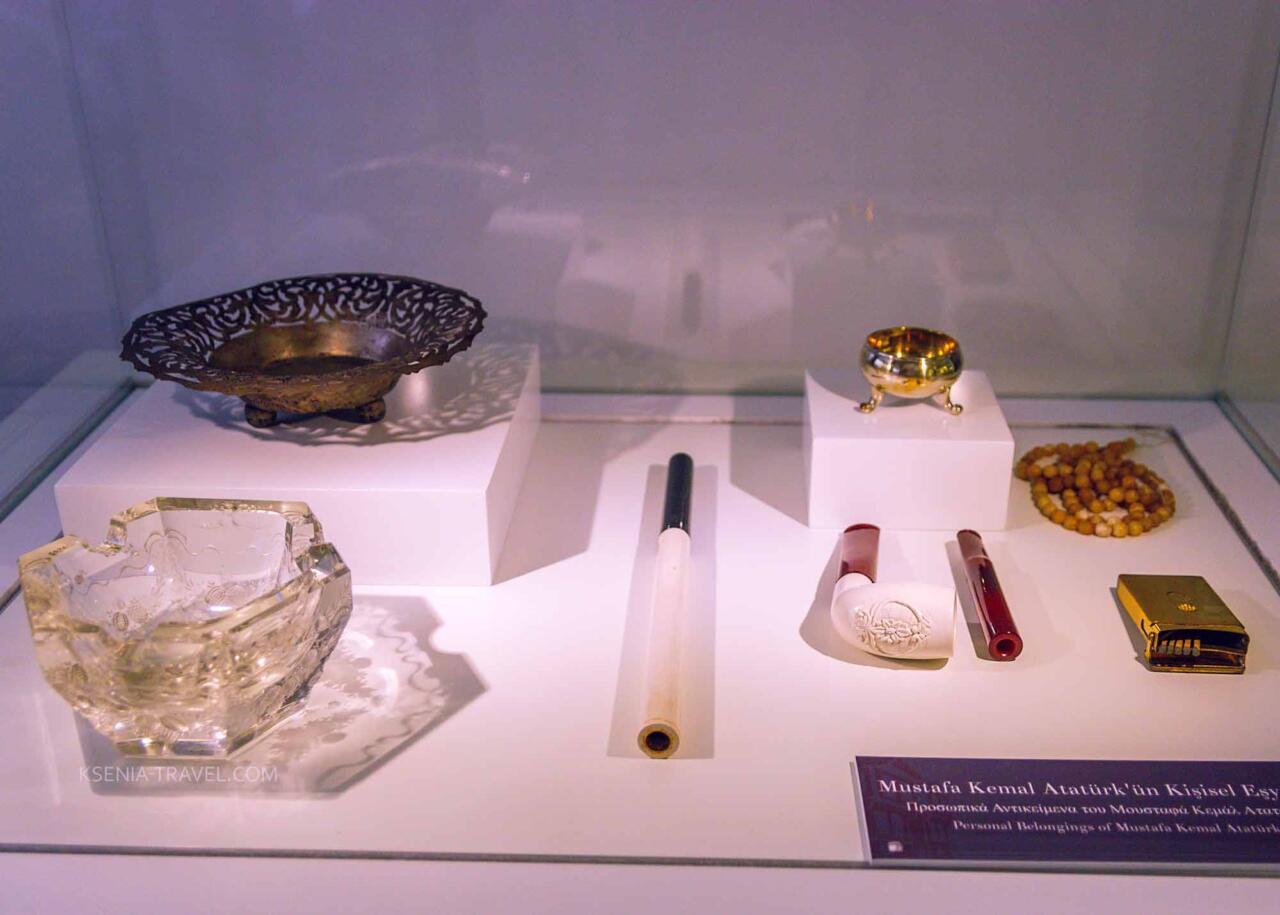 Курительные трубки Ататюрка в доме-музее Ататюрка
